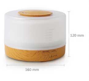 【Ultrasonic Aroma Diffuser】 容量: 500ml