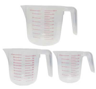 耐熱膠量杯(500m)半透明